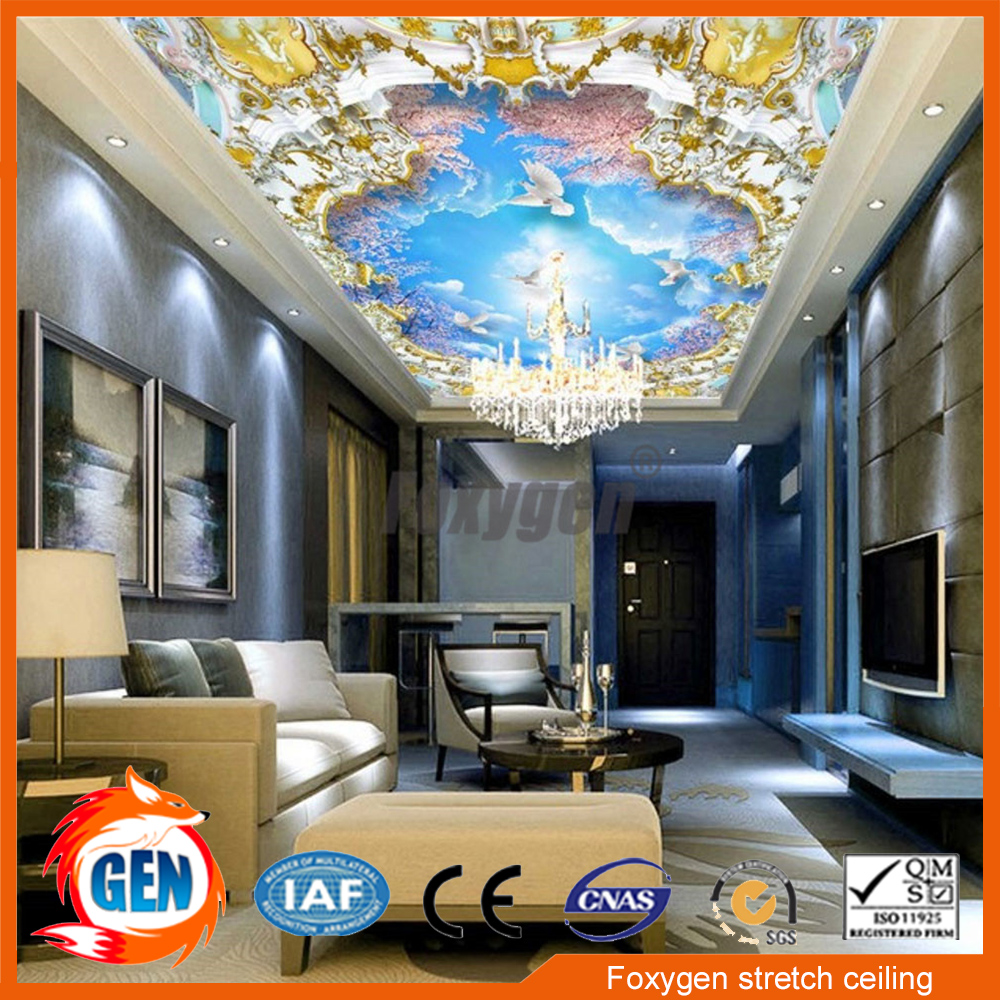 Home Decor Material Dightal Printing Uv Printed Suspended Ceiling Pvc Stretch Fabric Price In Wallpapers From Improvement On Aliexpress