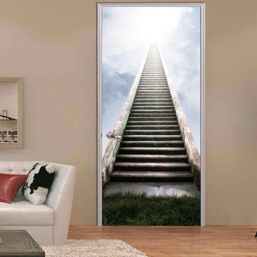 3D Наклейка на стену деколь, художественный Декор Виниловый Съемный Плакат плакат лестница сцены окна двери Бесплатная доставка Прямая доставка 2017 D18