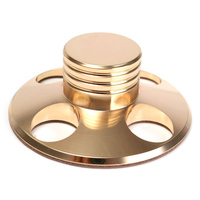 LEORY Metal Record Weight Disc Stabilizer Soft Gold 240g LP Vinyl Turntable Clamp Stabilizer For Turntables