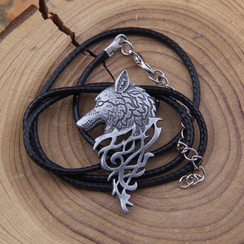 Yage 4Colors 1pcs rune viking canavar boyunbağı hədiyyə - Moda zərgərlik - Fotoqrafiya 5