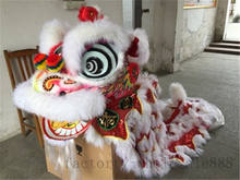 Hoksa Lion Dance MASCOT Costume Wool Chinese Folk Art Southern Lion Two Adults Cosplay Party Game Advertising(China)