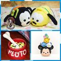 Free Shipping TS Pluto and Goofy dog 2pcs/lot UM mobile screen cleaner wiper key chain bag hanger plush toys gifts