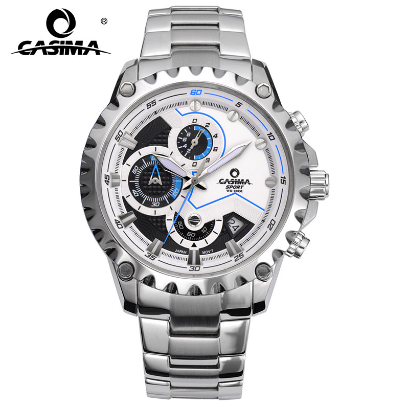 Luxury Brand Sport Men Watches Fashion Charm Mens Quartz Movement Wrist Watch Stainless Steel Waterproof 100m #CASIMA 8203