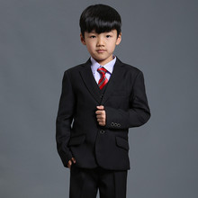 Nimble Boys Formal Suits Solid Single Breasted Baby Boy Clothes Flat Toddler Jacket Blazer For Child Three-pieces