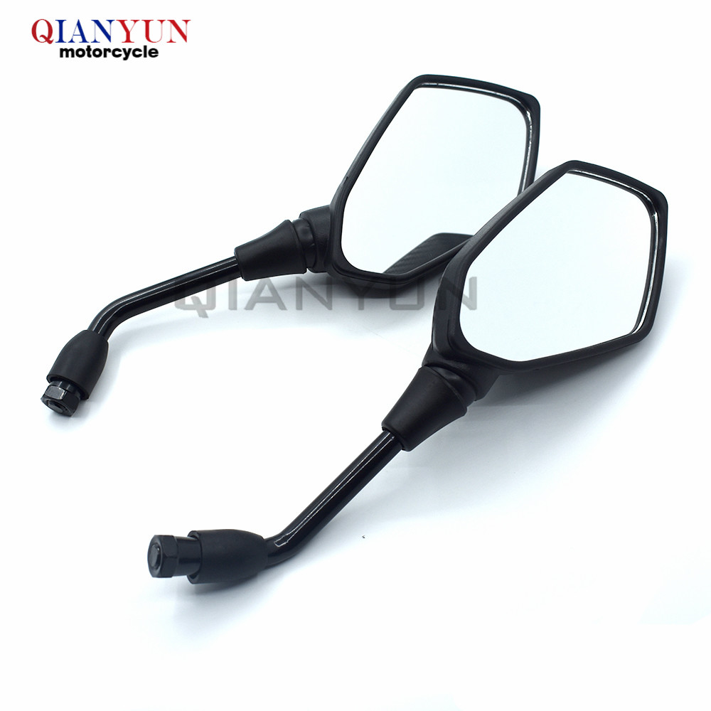 Universal 10mm Motocycle Rearview Side Mirror Black For Honda CBR500R CB500F CB500X 2013 2014 CBR 500R CB500 F/ X
