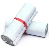 אריזת דואר חבילה חינם פלסטיק מיילר פולי תפוצה תיק על ידי שליח מעטפת לבן גורף סיטונאי אספקת דביק