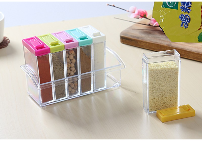 6pcs spice jar set salt pepper condiment seasoning box for Kitchen tool set of 6pcs sj