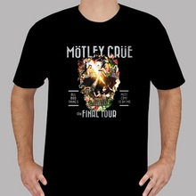 Plain T Shirts Comfort Soft O-Neck New Motley Crue The Final Tour All Bad Things MenS Black Short Sleeve Mens Shirt