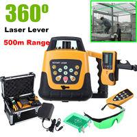 Auto nivelamento rotativo/rotativo laser verde nível kit com caso 500 m gama|Níveis de laser| |  -