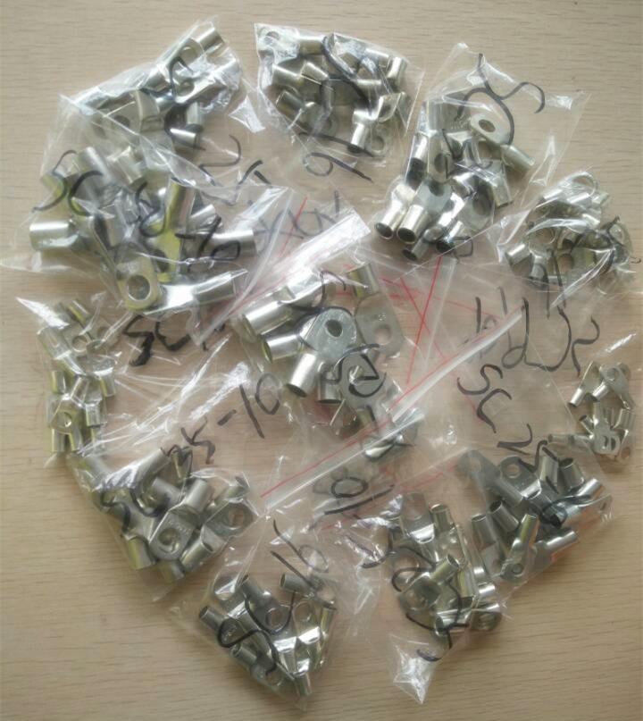 10 шт. 5AWG или 4 AWG или 2AWG или 1/0AWG Луженый Медный Кабель наконечники кольца различные AWG размеры сварки/батареи