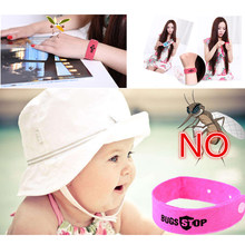 Anti Mosquito Bug Repellent Wrist Band Bracelet Insect Nets Bug Lock Camping safer anti mosquito bracelet outdoor Kids Skin Care(China)