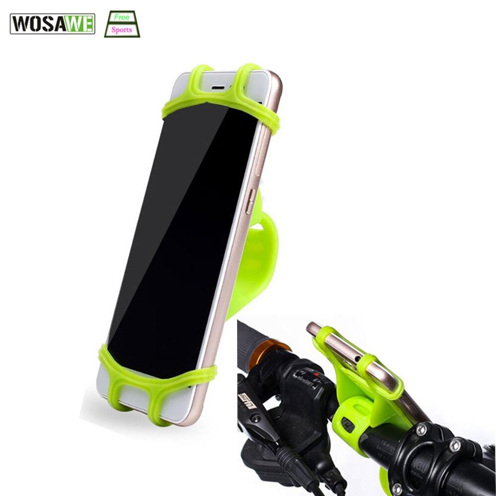 ROSWHEEL Silizium Fahrrad Lenker Telefon Halter Hohe Elastizität Für 4-6 zoll Handy Unterstützung Bike Zubehör Telefon Stehen