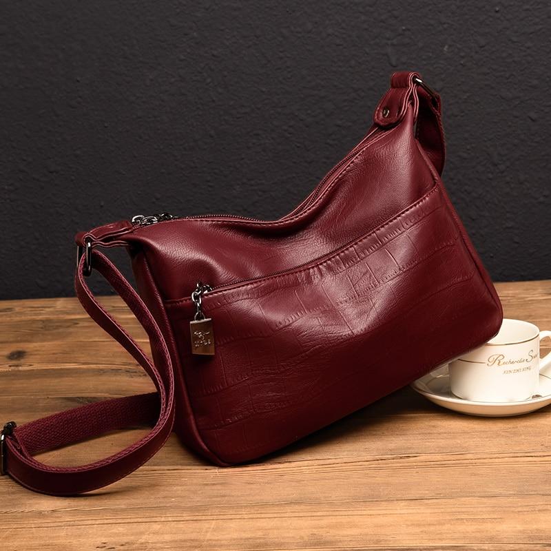 2019 Messenger Bag Sac A Main Femme Leather Luxury Handbags Women Bags Designer Hand bags Women Shoulder Crossbody shopping bag in Shoulder Bags from Luggage Bags