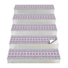 Hot 2 uds pegatinas de escalera de estilo bohemio, pegatinas de pared Diy pegatina de suelo, adecuado para el baño, cocina, escalera, Etc. Es
