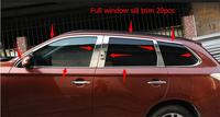New For Mitsubishi Outlander 2013 2014 Full Window Frame Sill Trim 20pcs Auto Decoration