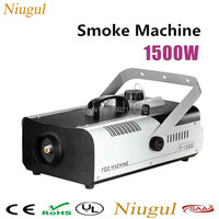 Best quality Remote and wire control 1500W smoke machine stage fog machine smoke generator for Oil liquid spraying 1500W fogger