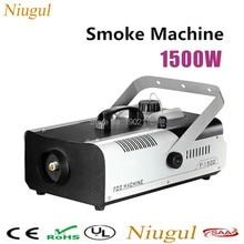 Mejor calidad de Control Remoto y control de alambre 1500 W máquina de humo etapa máquina de humo humo generador de Petróleo líquido de pulverización 1500 W fogger