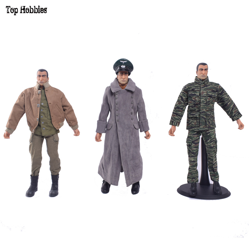 1//6 World War II Clothes Shoes Suit Winter Coat clothing Tank Boots German Hat