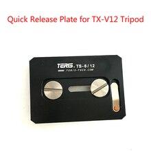 Tetris TRIX V8 V12 için hızlı bırakma plakası tetris V8T V8L V12T V12L artı video kamera tripodu