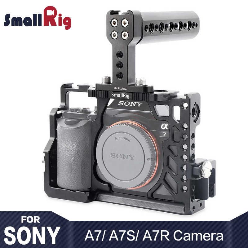 Smallrig カメラケージソニー A7 /A7R /A7S ハンドヘルドリグトップハンドルと hdmi ケーブルクランプ arri ロゼットマウント
