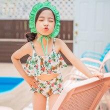 20a1f3d174d2d Bikini Set Girls Summer Children Swimwear Baby Kids Cute Bikini Two Pieces  Bandage swimsuit Bathing suit Beachwear kids