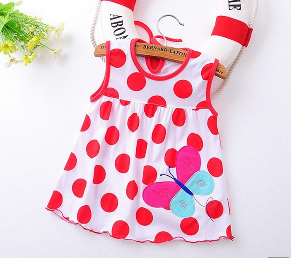 ccbc31c03 Flower Printed Toddlers Girls Princess Dresses Baby Girls A-Line Lovely  Sleeveless Summer Dress Kids