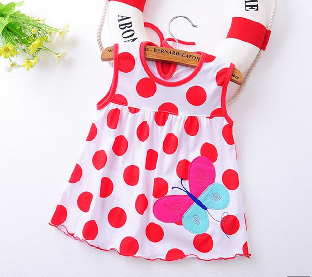 Flower Printed Toddlers Girls Princess Dresses Baby Girls A-Line Lovely Sleeveless Summer Dress Kids Girls Soft Cotton Clothes ruffled girls dresses summer 2017 new backless children dresses cotton sleeveless kids dress for girls clothes toddlers clothing
