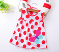 Flower Printed Toddlers Girls Princess Dresses Baby Girls A-Line Lovely Sleeveless Summer Dress Kids Girls Soft Cotton Clothes