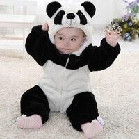 ร้อนใหม่2015ในช่วงฤดูหนาวทารกเด็กทารกเสื้อผ้าเด็กแพนด้ารูปสัตว์สไตล์Romperทารกคลุมด้วยผ้าO Nesie...