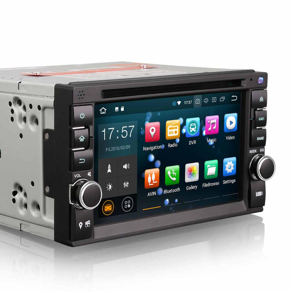 """6.2 """"Android 9.0 Pie OS Dua DIN Mobil DVD Multimedia Double Din Mobil GPS Navigasi 2 DIN Mobil Radio dengan DAB + Kotak Penerima Dukungan"""