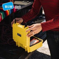 B & W type1000 أداة صندوق الأدوات حقيبة كاميرا مختومة مقاوم للماء واقية أداة أداة المعدات مع رغوة قبل قطع
