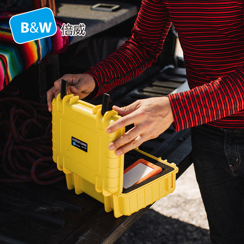 B&W type1000 tööriistakasti tööriistakasti kaamerakott, suletud veekindla kaitsevahendi korpuse turvainstrumentide varustus eelnevalt lõigatud vahuga