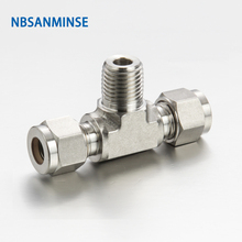 5 Pcs / Lot MBT Type Male Branch Tee Stainless Steel 316L Tube Fitting Plumbing Fitting High Quality Sanmin