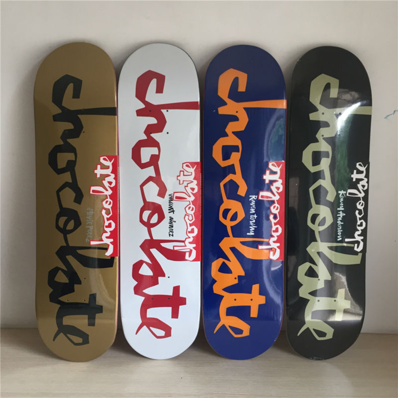 2017 8 New series of CHocolate words skateboardin Decks made by Canadian Maple Wood Shape Skateboard Skate Board free shipping 26inch skateboard deck simple pattern made by canadian maple wood shape skateboard deck for pro