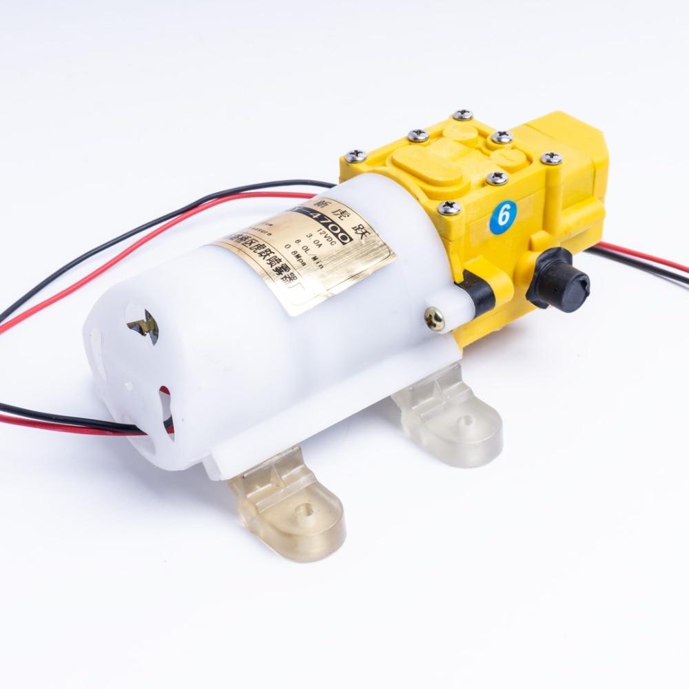 SANON Bomba de Agua Autocebante de Diafragma de Alta Presi/ón 12V Dc 100W 8L Min 160Psi para Lavado