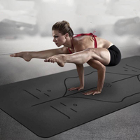 Non slip Yoga Mat For Fitness Natural Rubber Sports Yoga Mat Multifunction Also For Gym Pilates 1830*680*5mm
