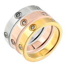 MSX Wholesale Cubic Zirconia Rings Vintage Luxury Brand Stainless Steel Rings 4mm Wide Small Wedding Bridal Rings For Women Men цена и фото