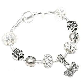 Cute Mickey Mouse Themed Bracelet Bracelets Jewelry New Arrivals Women Jewelry Metal Color: 3 Length: 18cm