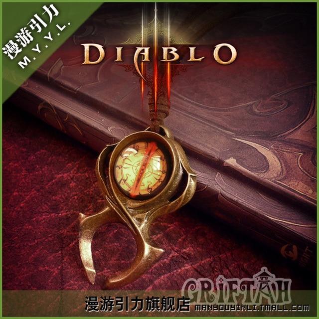 Diablo 3 Watchmen Guardian Horadrim's Amulet Leah's Necklace  Pendant Diablo necklace Hand Made with GIFT BOX