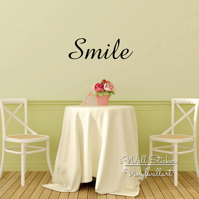 Smile Quote Wall Sticker Inspirational Quote Wall Decal Smile Quotes ...