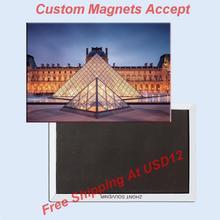 цена на Louvre museum , Arc DE triomphe, Paris France tourist souvenirs, magnetic fridge magnets, home decoration crafts