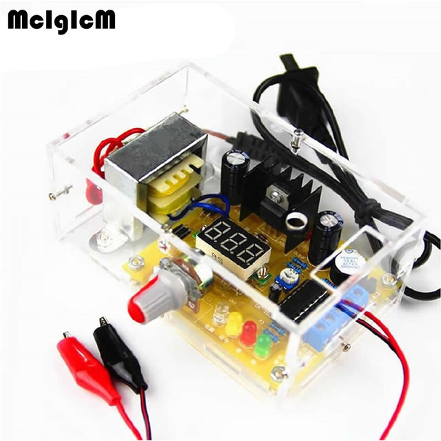 US $14 99 |DIY kit LM317 adjustable voltage power electronic parts and  electronic training kit DIY multi function power production-in Integrated
