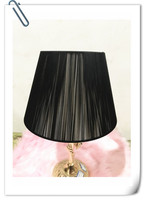 Free shipping Lamp cover for table lamp black fabric lampshade Fashionable Decorative E27 table lamp shade for bedroom