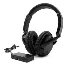FM беспроводные наушники Накладные наушники AUX передатчик 3,5 мм Проводная гарнитура с микрофоном fm-радио для ТВ ПК телефонов MP3-плеера