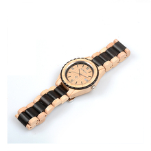 BEWELL W128AG Mens Wood Watches Sports Quartz Wrist Watches Top Brand Luxury Leather Strap Multi-function Chronograph Wristwatch