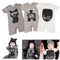 Nuevo 2016 Fashion Baby Boy Ropa Monstruo Ropa de Algodón Recién Nacido Del Bebé Mamelucos Del Bebé de Manga Corta Mono Infantil trajes