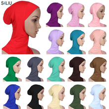 נשים Ninja ראש כיסוי מצנפת כובע Underscarf המוסלמי טורבן גברת כובע צעיף כובע Skullies בימס בימס מלא כיסוי מצנפת אופנה