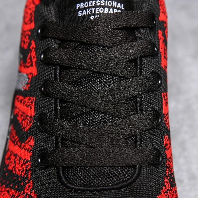 leve Grande Masculinos vermelho Voador Ultra And Tamanho Novo Tecido Ash Sapatos Black White Casuais black qtw5pP