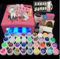 Burano 36 W Lámpara UV y 36 Colores UV Gel esmalte de Uñas de Arte herramientas Conjunto de esmalte de uñas Kit de manicura de gel de construcción set un seto de herramientas