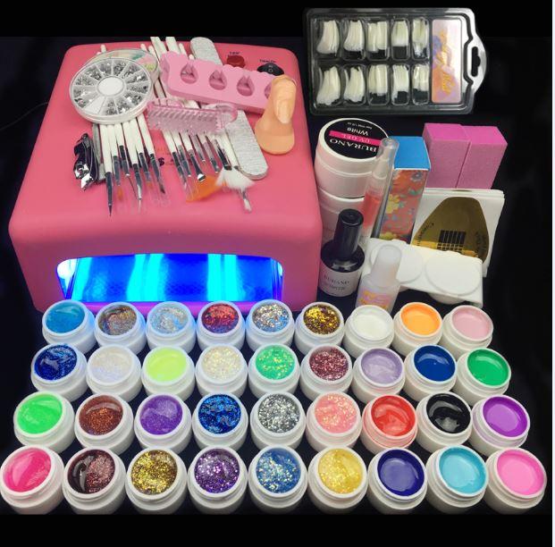 Hot Burano 36W UV Lamp 36 Colors UV Gel Nail polish Art Tools polish ...